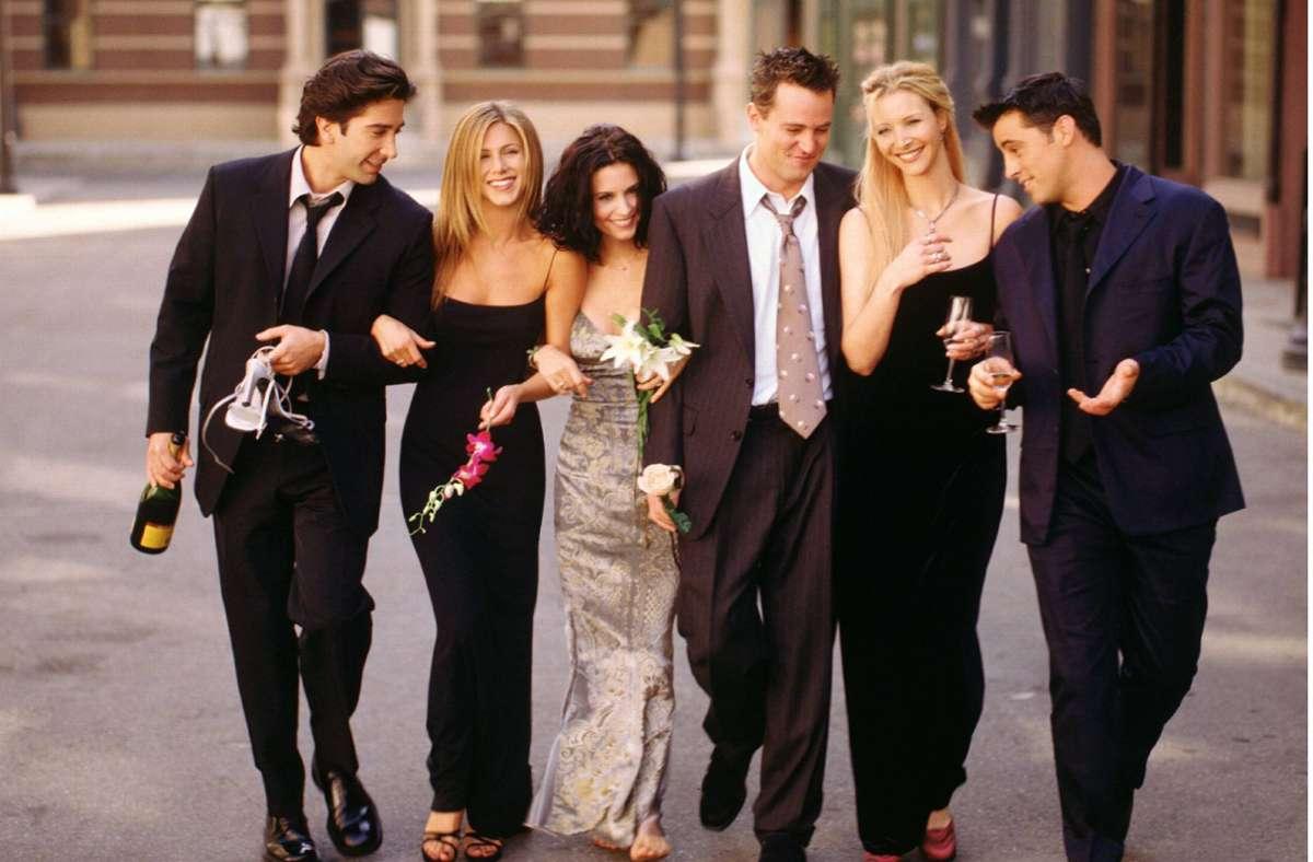 """Am 27. März kehrt die Kult-Serie """"Friends"""" mit einem Special auf die Bildschirme zurück. Foto: imago images / Cinema Publishers Collection"""