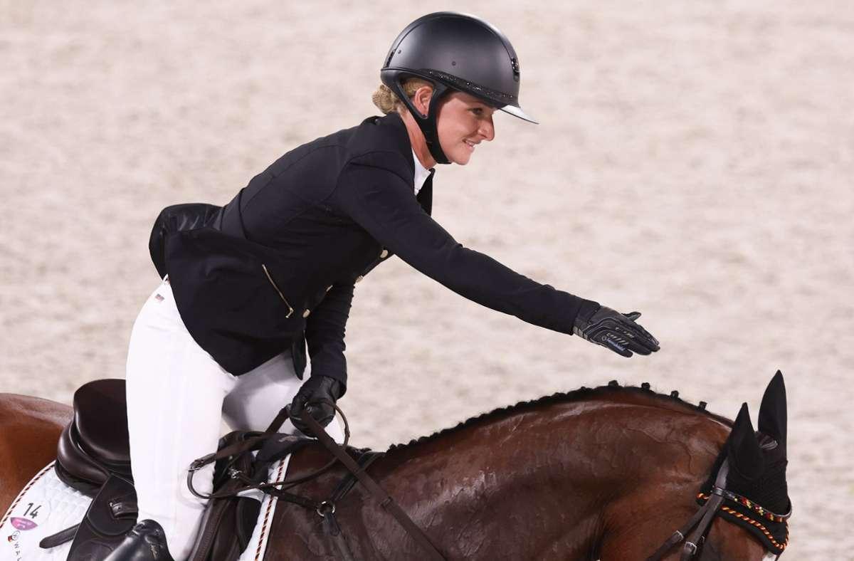 Julia Krajewski siegte in der Vielseitigkeit. Foto: dpa/Friso Gentsch
