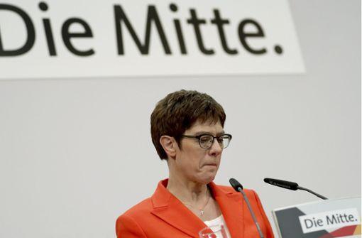 CDU-Chefin wird Parteivorsitz abgeben