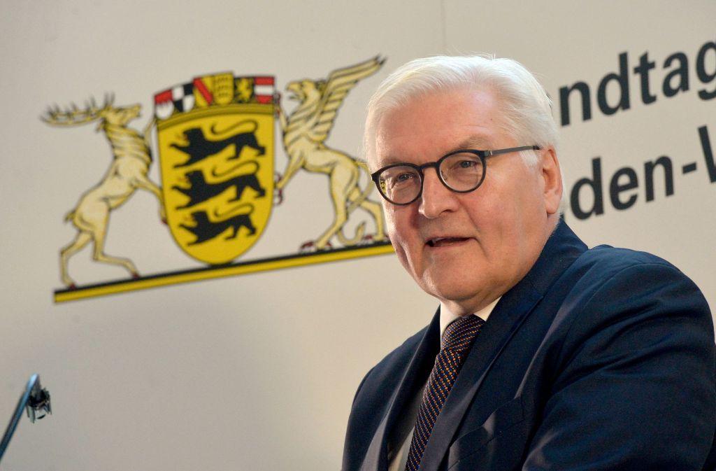 Im Januar ist Frank-Walter Steinmeier bereits im Stuttgarter Landtag gewesen. Foto: dpa