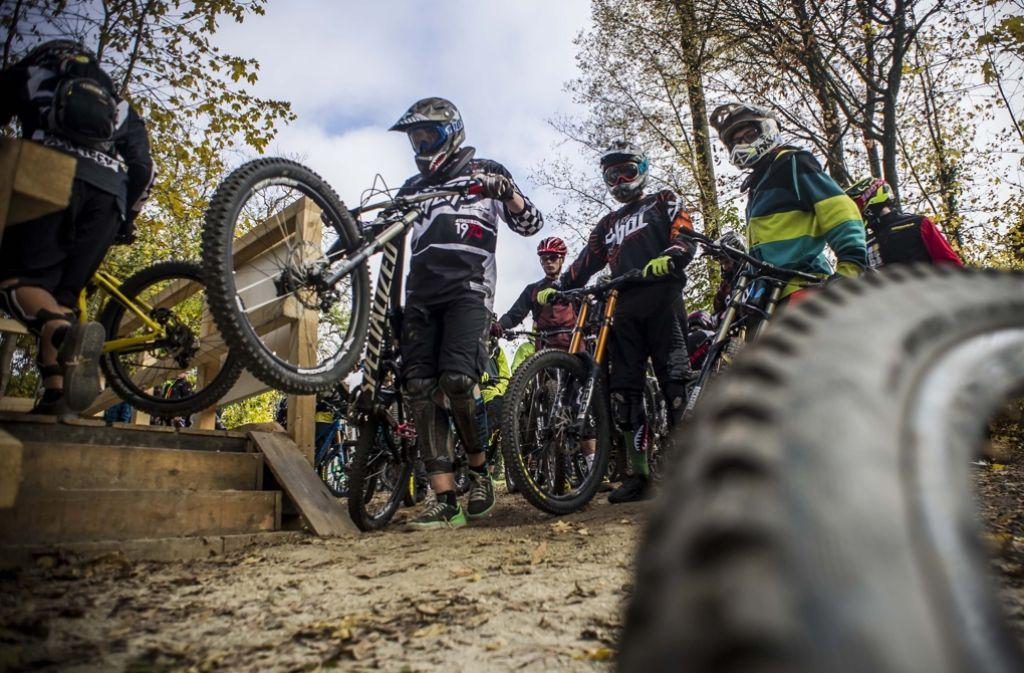 Auch die Nutzer der Stuttgarter  Downhillstrecke haben Angst vor Fallen. Foto: Lichtgut/Max Kovalenko