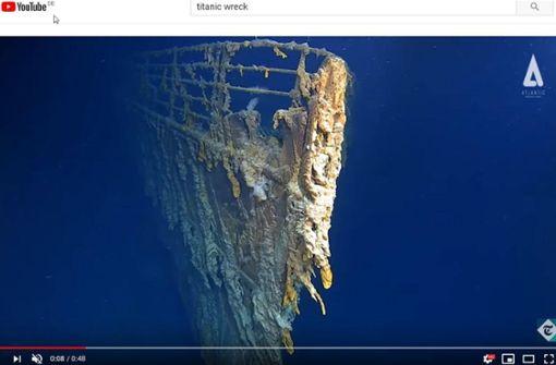 Wrack der Titanic löst sich komplett  auf