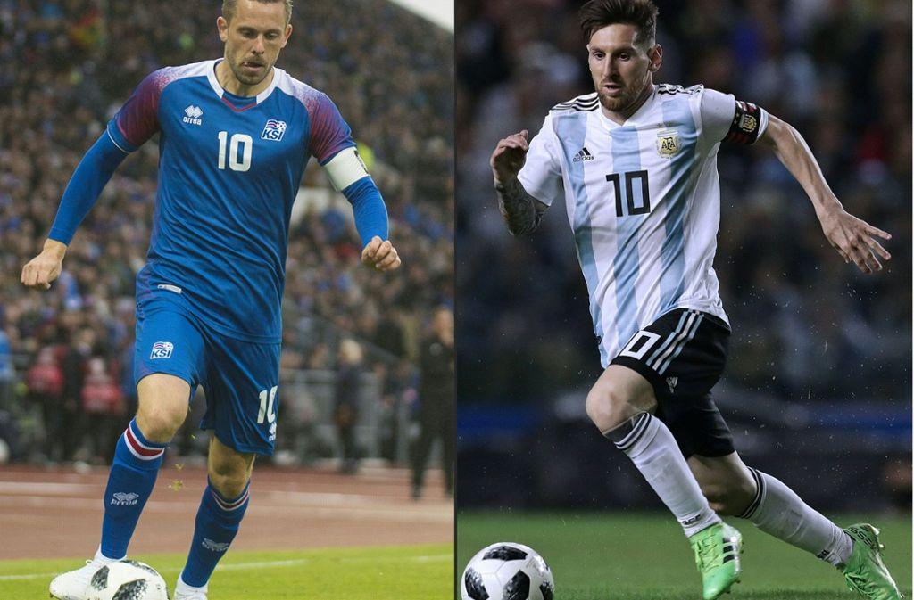 Ein Sieg der Isländer gegen Argentinien wäre eine Überraschung. Foto: AFP