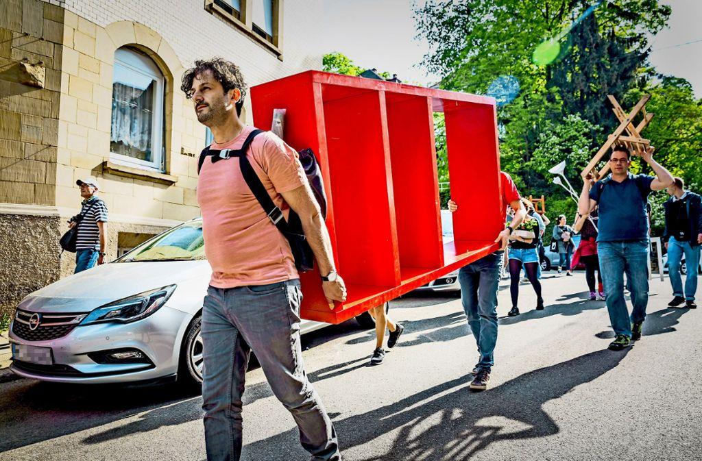 Unterstützung für die Hausbesetzer in Heslach Foto: Lichtgut/Julian Rettig