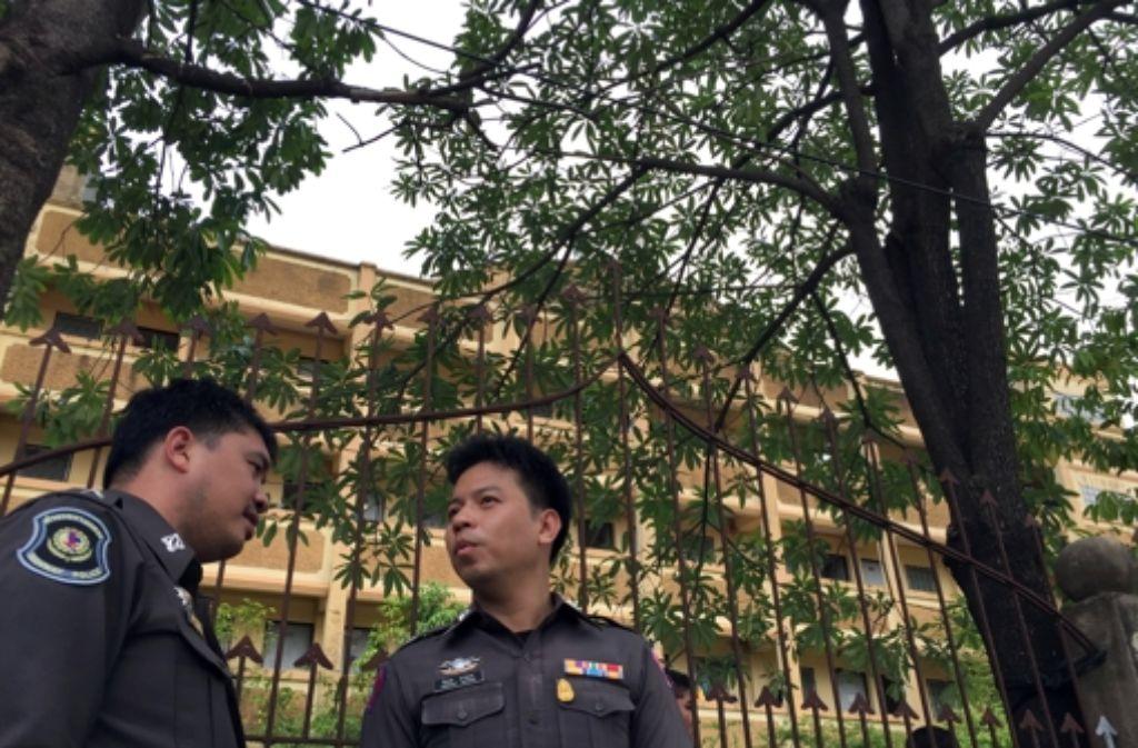 Bei dem Anschlag am 17. August waren mitten im belebten Einkaufsviertel von Bangkok 20 Menschen umgekommen. Foto: AP