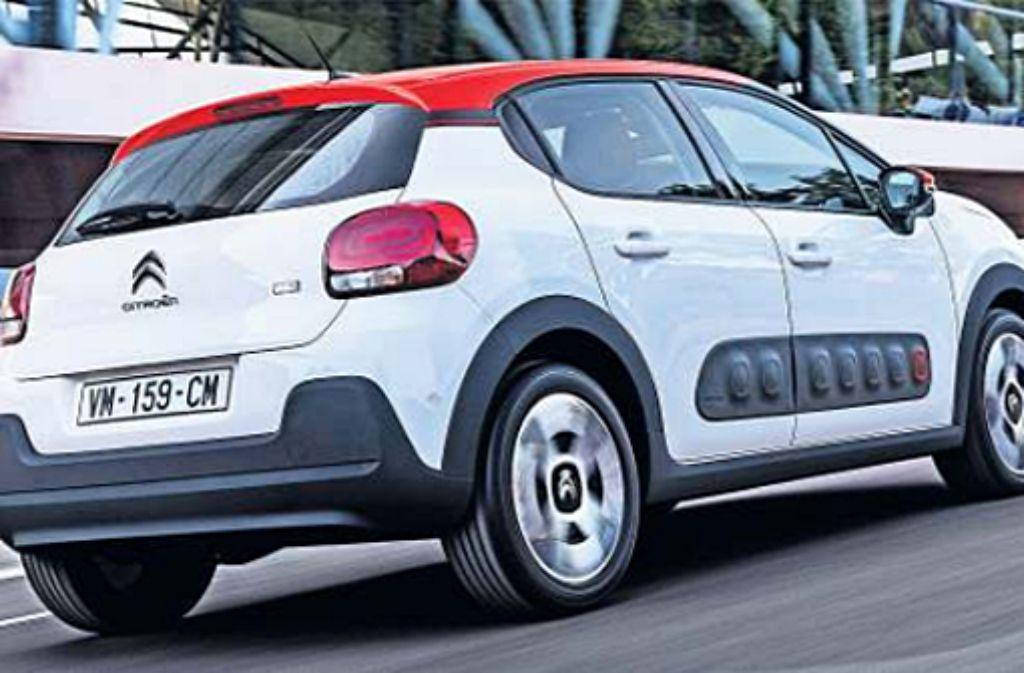 Die dritte Generation des Citroën C3 steht in den Startlöchern. Auffallend sind die AirbumpSeitenschoner. Foto: Hersteller