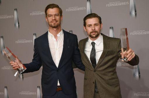 TV-Stars beim Schaulaufen für den Fernsehpreis