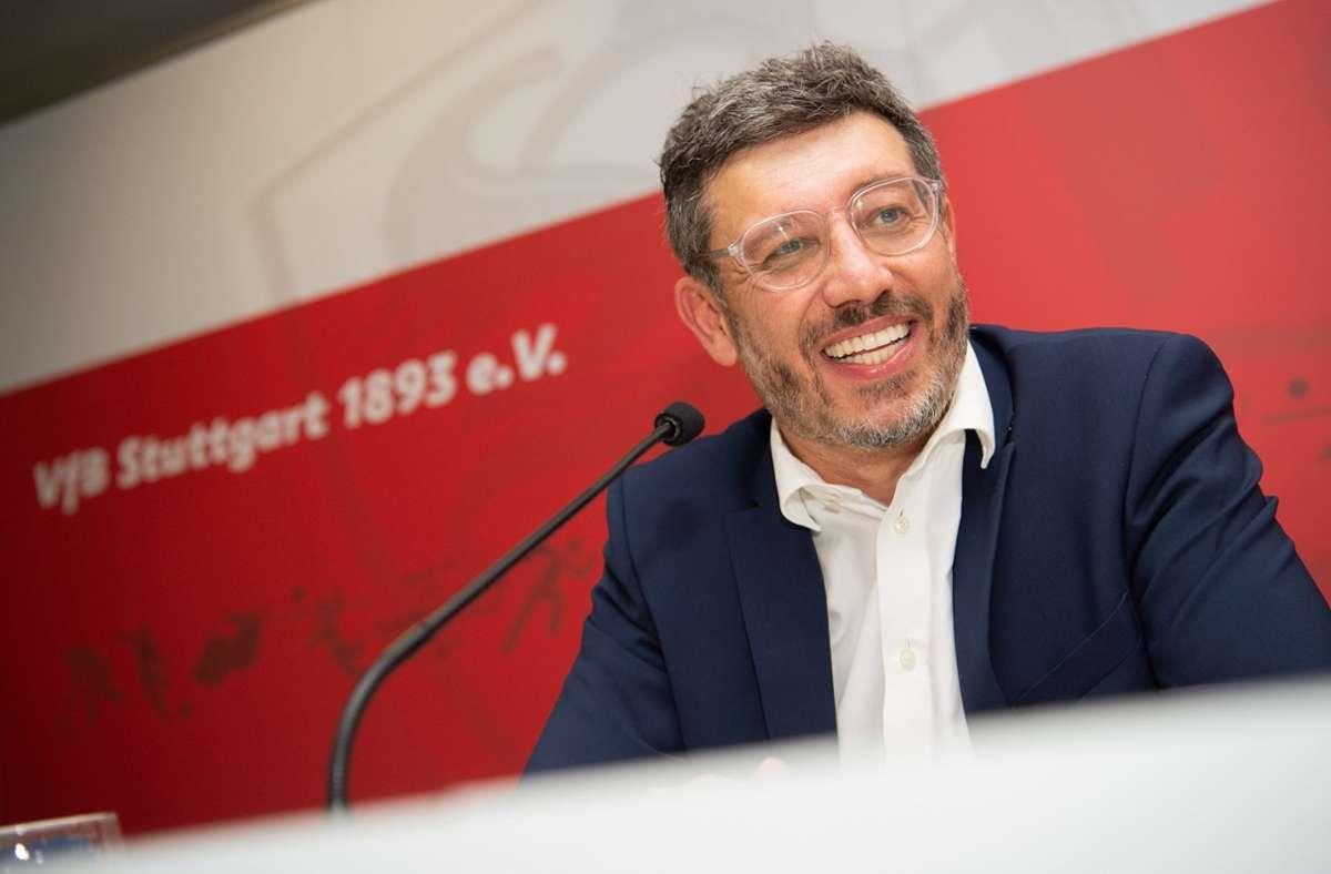 VfB-Präsident Claus Vogt hat sich zur Investorensuche beim VfB Stuttgart geäußert. Foto: dpa/Tom Weller