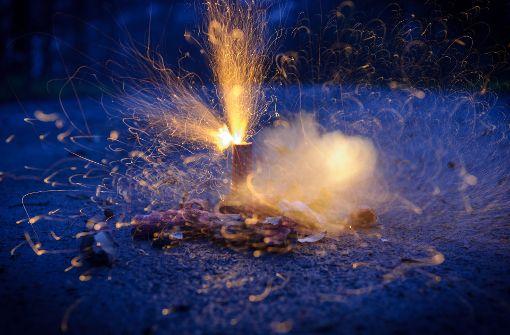 Ein teures ungezündetes Feuerwerk
