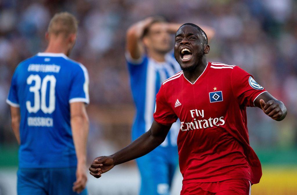 Im Sommer kommt er wieder zum VfB Stuttgart zurück: Orel Mangala überzeugt beim HSV. Foto: dpa