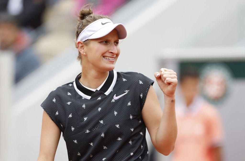 Marketa Vondrousova trifft im Finale der French Open auf Ashleigh Barty. Foto: AP