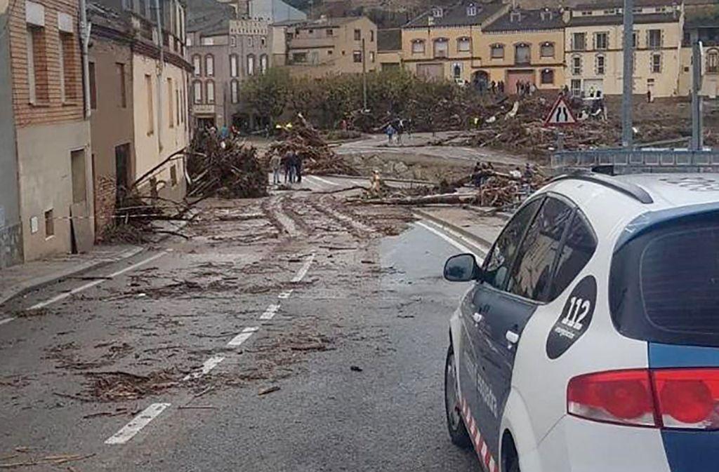 Auch in der katalonischen Stadt Tarragona hat das Unwetter gewütet. Foto: dpa
