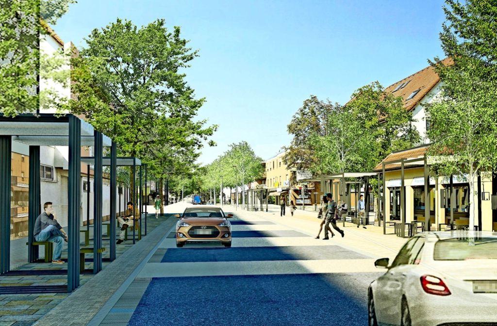 So könnte die Hindenburgstraße künftig aussehen. Foto: Internationales Stadtbauatelier