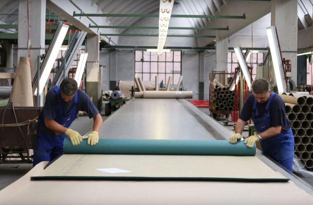 Das Unternehmen aus Bietigheim stellt  Bodenbelege her. Foto: DLW