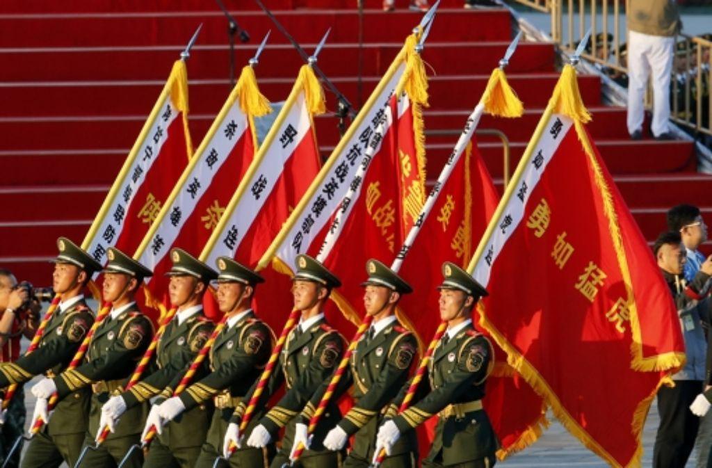 China demonstriert Stärke. Foto: AP