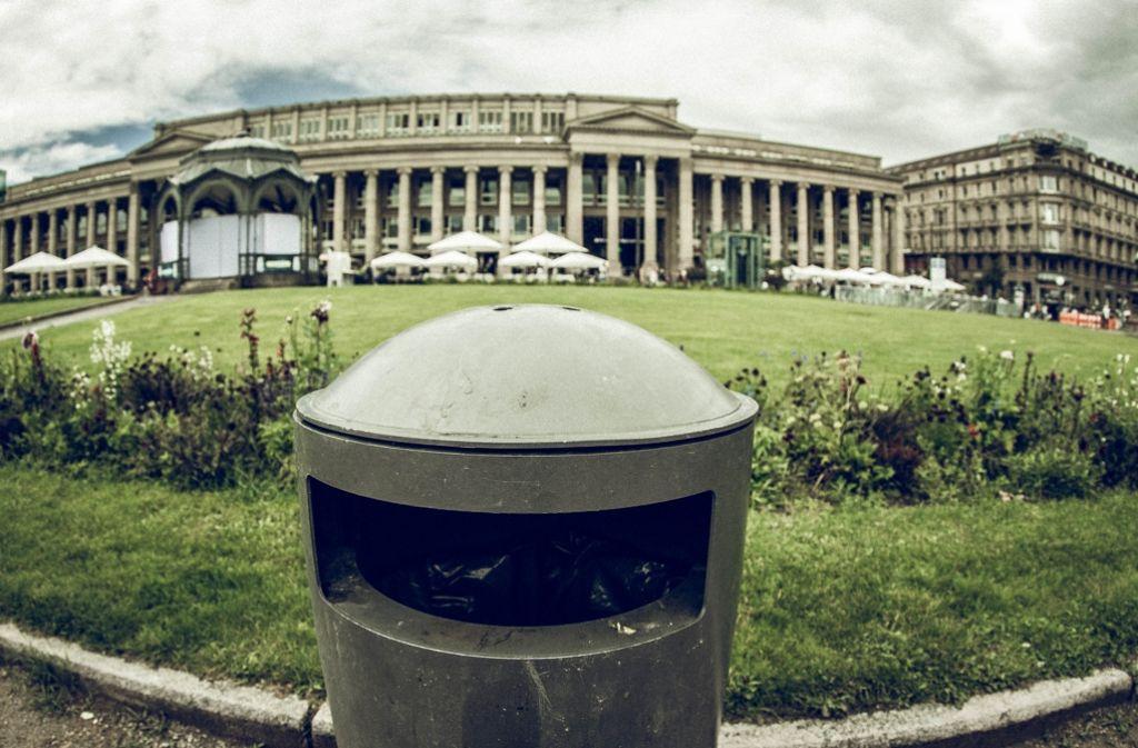 Stuttgarts Mülleimer sind elegant, aber mutmaßlich zu unauffällig Foto: Lichtgut/Leif Piechowski