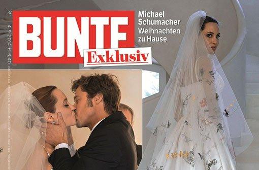 ... der Hochzeit von Angelina Jolie und Brad Pitt abdrucken. Foto: Bunte