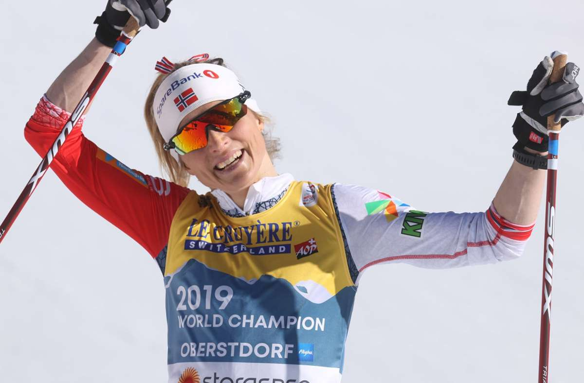 Therese Johaug hat bei der WM in Oberstdorf schon zwei Titel verteidigt. Foto: dpa/Karl-Josef Hildenbrand