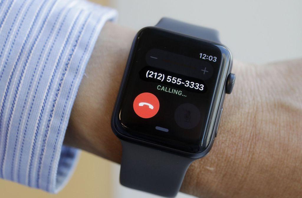 Die Apple Watch Series 3 hat ein Software-Update erhalten. (Symbolbild) Foto: AP