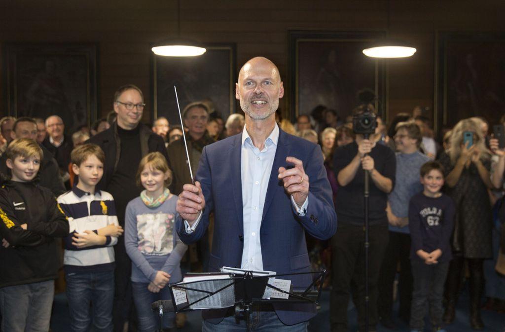 Pascal Bader gibt künftig als Oberbürgermeister in Kirchheim den Takt vor. Mit Erklärungen für seinen  fulminanten Wahlsieg tun sich Gegner und Befürworter schwer. Foto: Pressefoto Horst Rudel/Horst Rudel