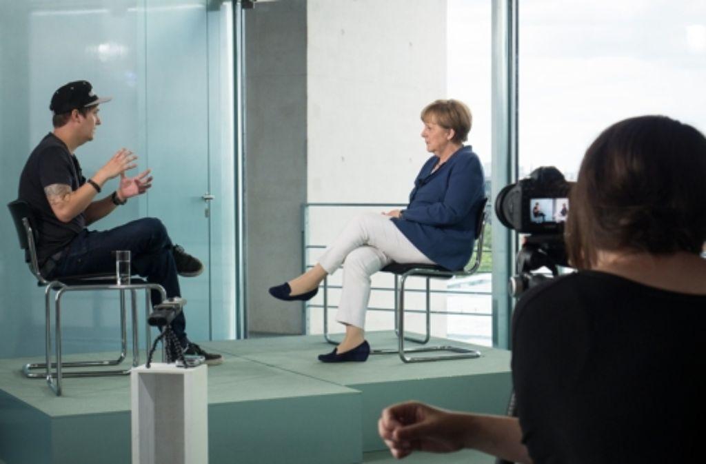 Weit mehr als eine Million Klicks hat das Interview des Youtubers LeFloid mit der Bundeskanzlerin Angela Merkel binnen 24 Stunden gesammelt. Foto: Getty Images Europe
