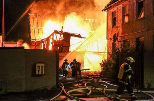 Gebäudebrand mitten in der Stadt