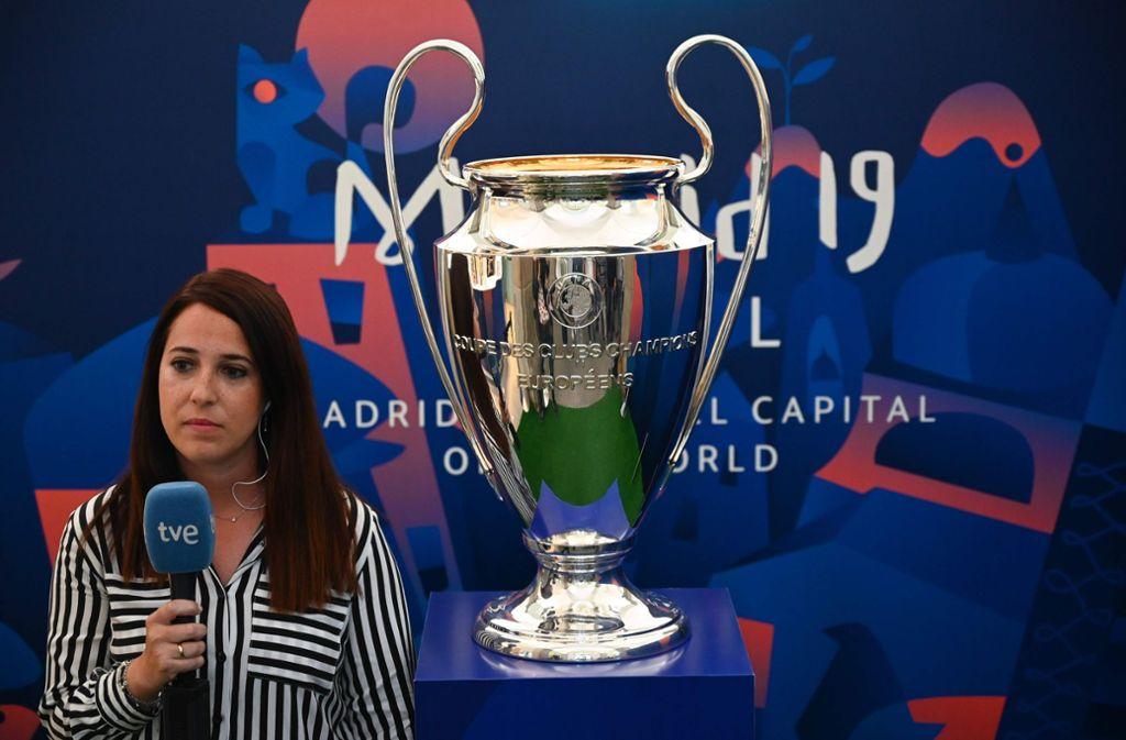 Der Champions-League-Pokal 2019 Foto: AFP