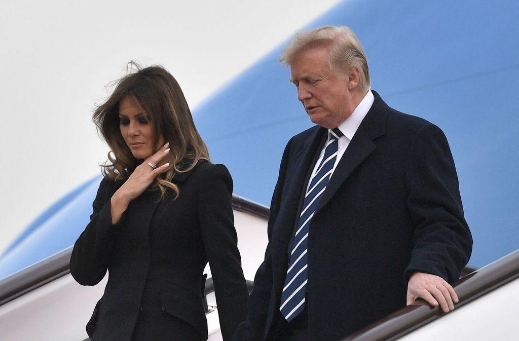 Der US-Präsident Donald Trump und seine Frau Melania befinden sich zurzeit auf Asien-Reise. Foto: AFP