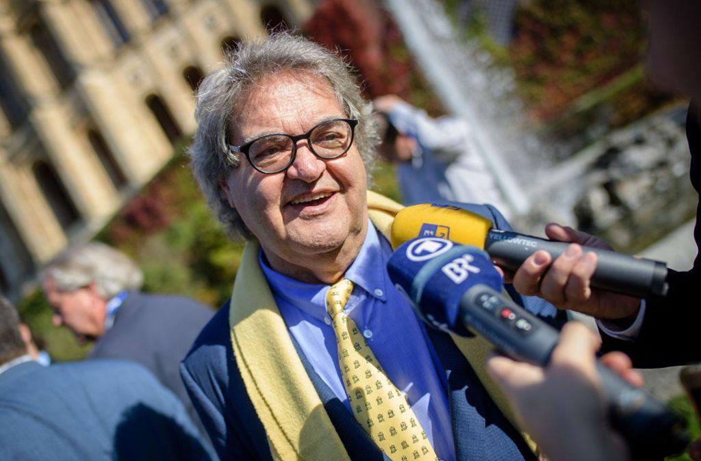 """Der """"Focus""""-Gründer Helmut Markwort sitzt für die FDP im bayerischen Landtag – darf aber nicht in den Rundfunkrat des BR.Foto:dpa Foto:"""