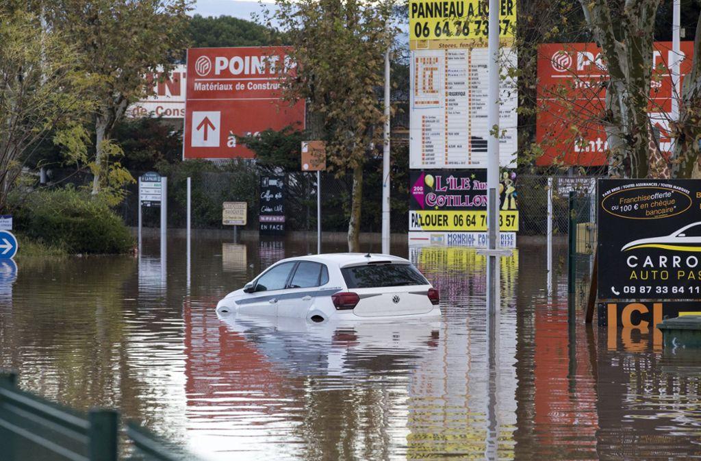 Bei Unwettern in Frankreich kamen fünf Menschen ums Leben. Foto: dpa/Daniel Cole
