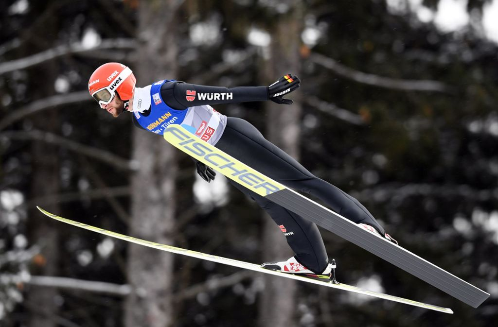 Markus Eisenbichler hat wohl keine Chance mehr auf den Sieg bei der Vierschanzentournee. Foto: Bongarts