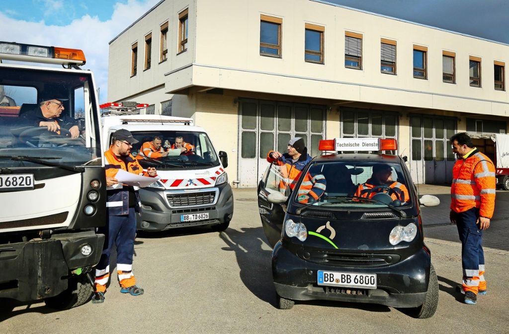 Die Mitarbeiter des Bauhofes planen ihre Einsätze selbst und sind für sie verantwortlich. Foto: factum/Granville