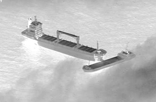 Zwei Frachter verkeilen sich auf Nordsee