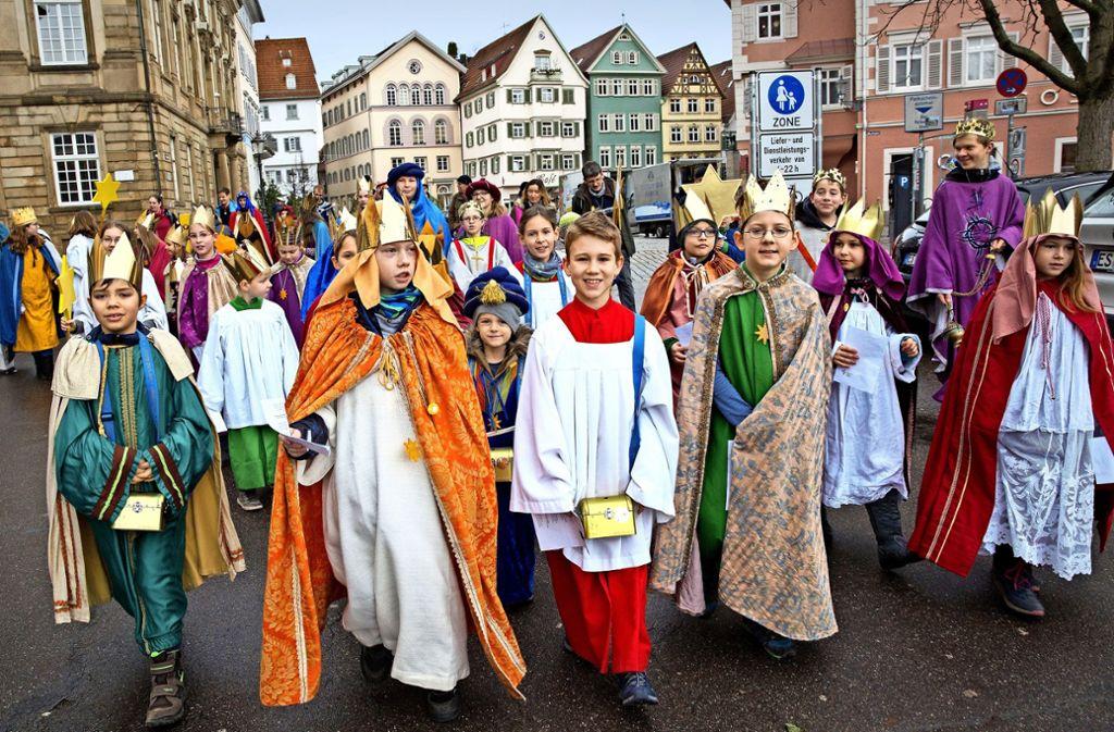 Auch in Esslingen sind die Heiligen Drei Könige auf den Straßen. / Foto: Ines Rudel