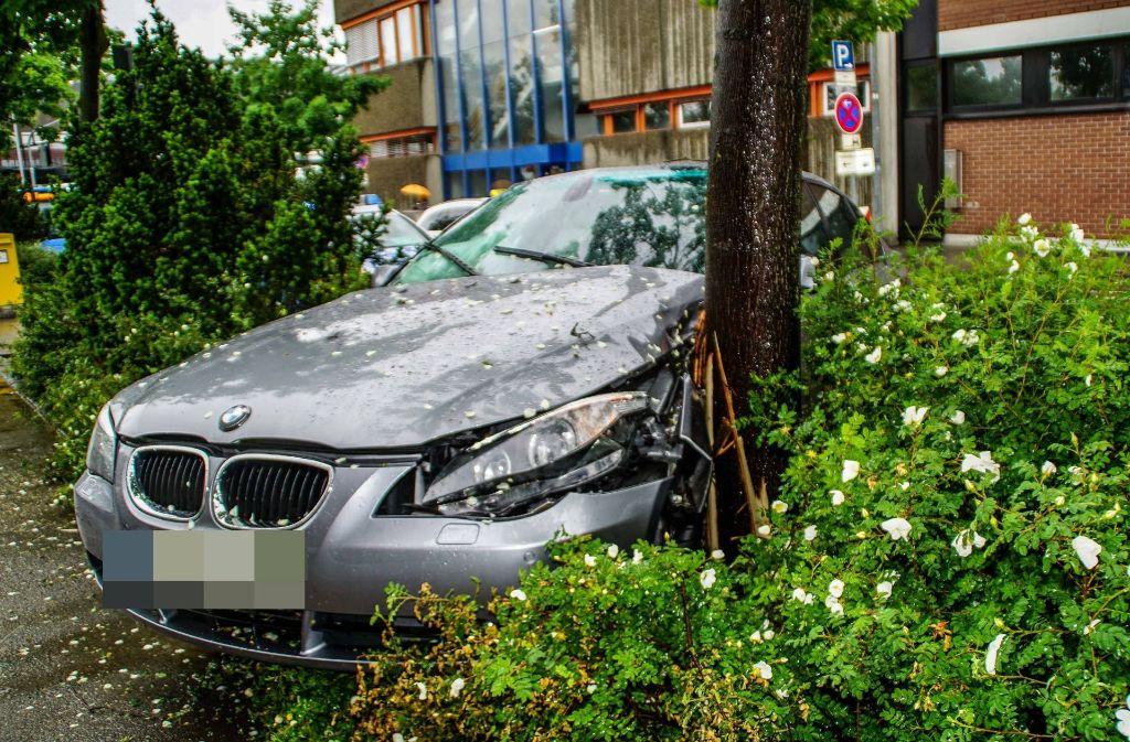 Der BMW kam nach rechts von der Straße ab. Foto: SDMG