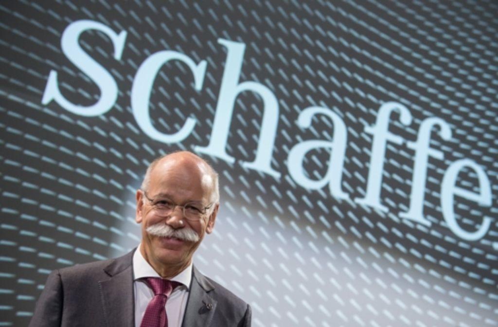 Er sucht Leute, die schaffen können: Daimler-Chef Dieter Zetsche. Foto: dpa