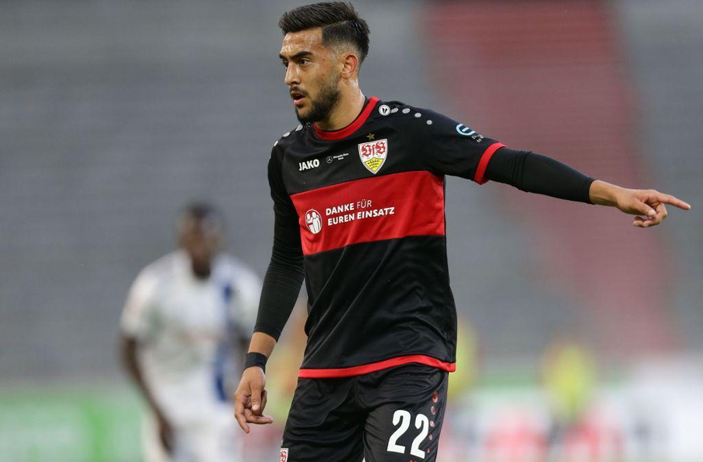 """Nicolas Gonzalez vom VfB Stuttgart ist unser """"Spieler des Spiels"""" gegen den Hamburger SV. Foto: Pressefoto Baumann/Hansjürgen Britsch"""