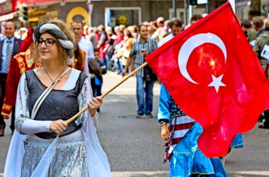 Auch dabei: der Verein Türkisches Zentrum aus Waiblingen Foto: Frank Eppler