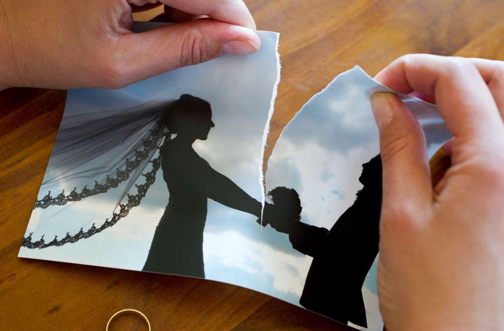 Im sechsten Ehejahr lassen sich die meisten Paare scheiden. Foto: dpa-Zentralbild