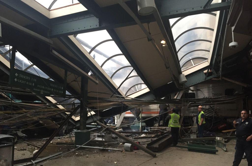 Der Bahnhof von Hoboken wurde schwer beschädigt. Foto: GETTY IMAGES NORTH AMERICA