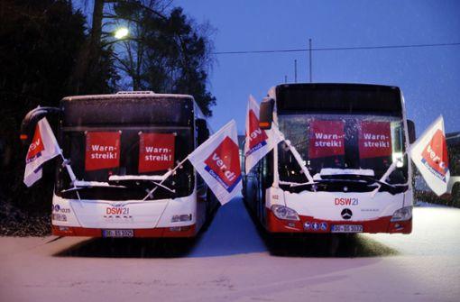 In Ulm stehen die Busse still