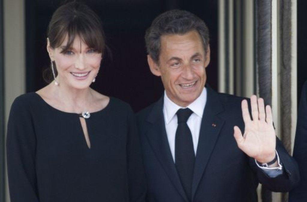 Carla Bruni-Sarkozy und Nicolas Sarkozy Foto: dpa