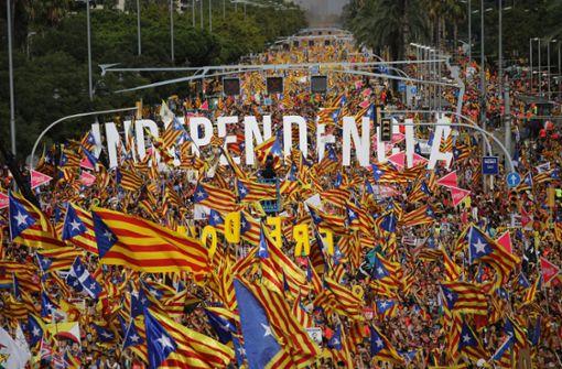 Hunderttausende demonstrieren für unabhängiges Katalonien