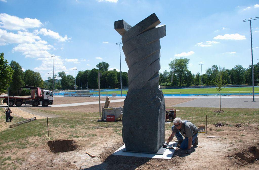 Der Twister wird neben dem Sportpark verankert. Foto: Kulturforum