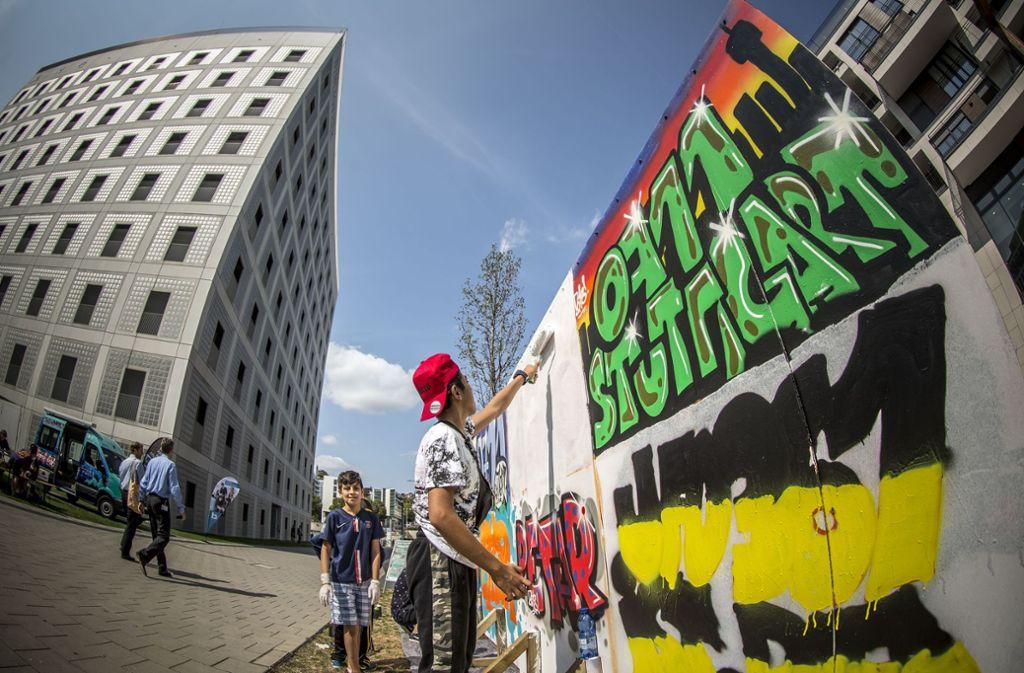 Graffitiwand ist besonders beliebt. Foto: Lichtgut/Leif Piechowski
