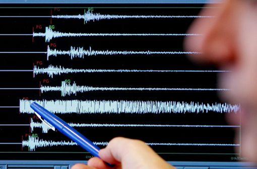 Seismografen messen Stärke von 2,5