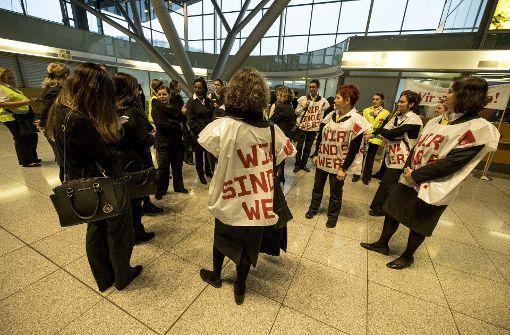 Warnstreik am Flughafen bis Mittwochabend verlängert
