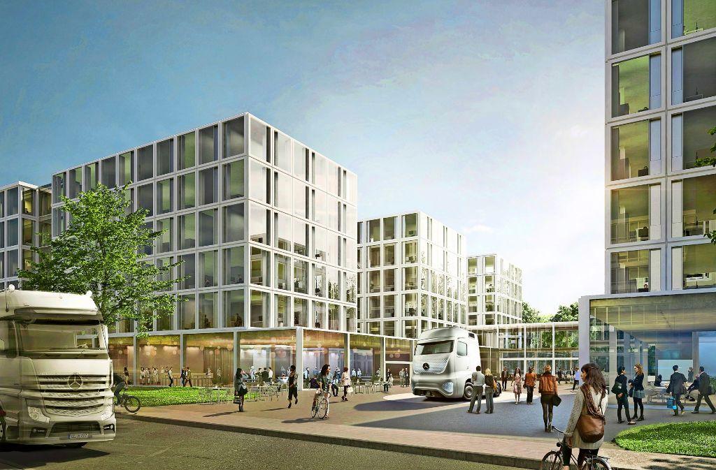 So könnte der neue Campus der Truck-Sparte von Daimler aussehen. Foto: bloomimages GmbH