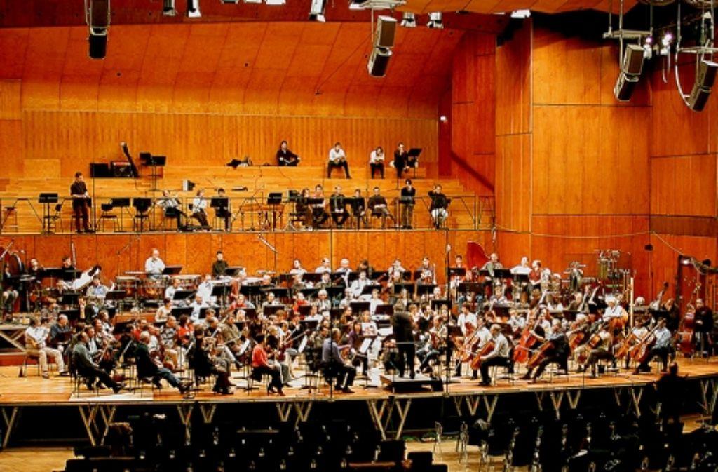 Ein Klangkörper, der sterben wird: das Rundfunk-Sinfonierorchester  Stuttgart in der Liederhalle Foto: SWR-Pressestelle/Fotoredaktion