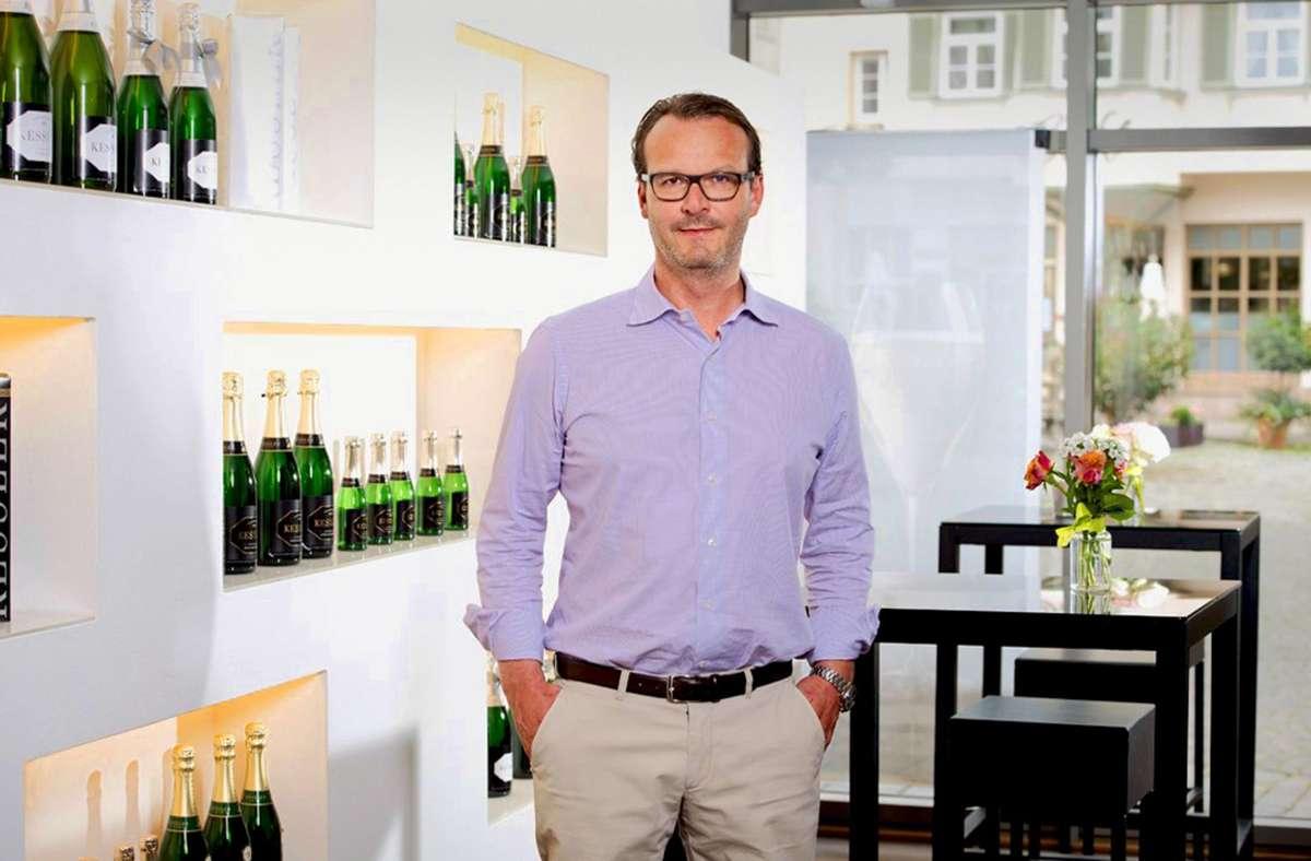 Im Esslinger Stammhaus: der Geschäftsführer Christopher Baur Foto: /Kessler
